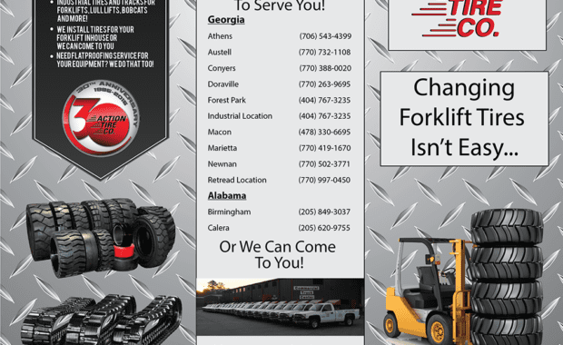 Action Tire Brochure side one